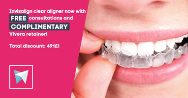Orthodontic treatment is nearly invisible with the InvisalignⓇ aligner