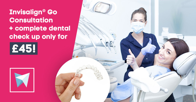 Invisalign® Go Consultation + complete dental check up only for £45!