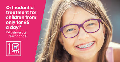 Orthodontic treatment for children only for £5 a day!