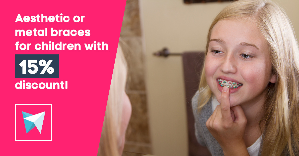 Aesthetic or metal braces for children wit ...