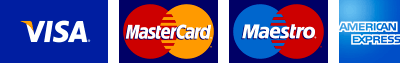 We accept all major credit and debit cards.